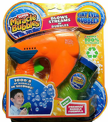 Super Miracle Bubbles Mega Blaster Bubble Liquid Battery Operated Novelty Toy