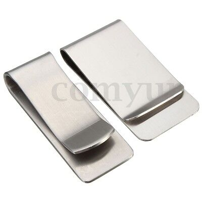 Stainless Slim Simple Style Pocket Wallet Credit ID Name Card Money Clip Holder