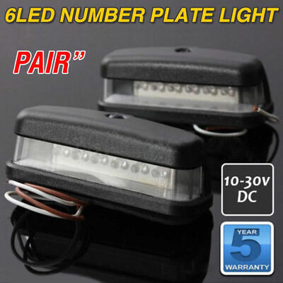 2x 6LED Rear License Number Plate Light Lamp Car Truck Caravan Trailer 12-30V AU