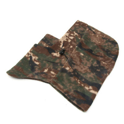Brown Camouflage Print Motorcycle Cycling Windproof Face Mask Cap Neck Protector