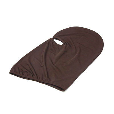 Brown Polyester Motorcycle Cycling Dustproof Face Mask Cap Neck Protector