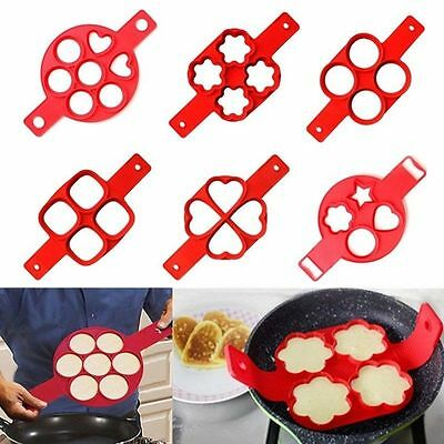 Non Stick Pancake Mold Egg Omelets Silicone Ring Maker Flippin Kitchen Tools