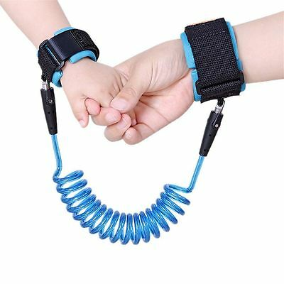Babyhugs Child Toddler Anti Lost Safety Wrist Band Strap Leash - Blue