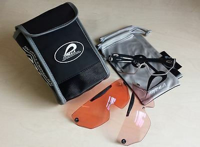 PILLA OUTLAW Shooting Glasses 2 Lens Set - 65 and 80 Plus Case