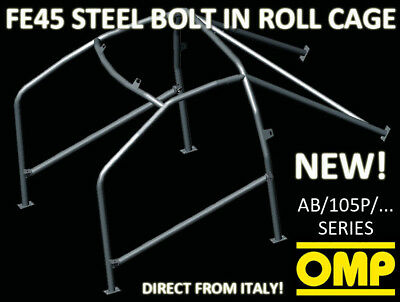 Ab/105P/226 Omp Roll Cage Seat Leon 5 Doors Inc Cupra /r 03/00- Fia Approved