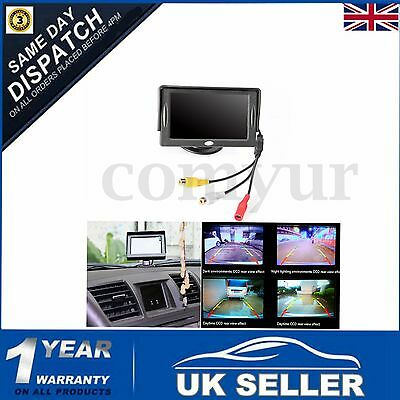 "4.3"" HD Digital Monitor TFT LCD Screen Reverse Rearview Camera View Mirror Car"