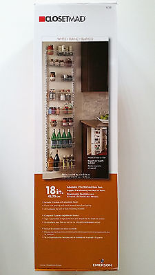New CLOSETMAID Adjustable 8-Tier Wall or Door Storage Rack Shelves - White 1233