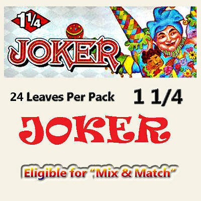 Joker Rolling Papers - 1 1/4 - 24 Papers Per Pack - save $ on multiple