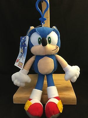 """Sonic The Hedgehog 8"""" SONIC Plush Coin Purse/Key Chain Ring Clip On AI Animation"""