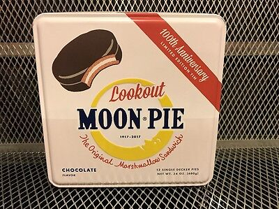 Moon Pie Chocolate Pie  100 Anniversary Tin ~ New ~ Collectable Limited Edition