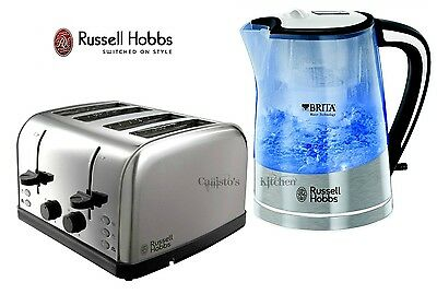 Kettle and Toaster Set Russell Hobbs Brita Filter Kettle and 4 Slice Toaster New