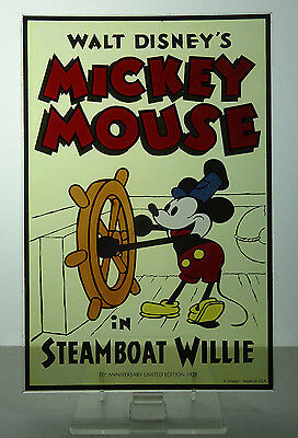 Glassmasters for Disney Limited Edition Mickey Steamboat Willie 70th Art Glass