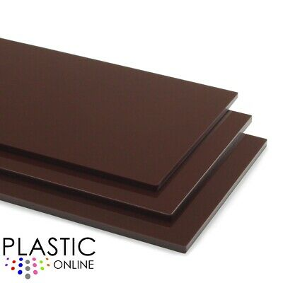 Brown Colour Perspex Acrylic Sheet Plastic Material Panel Cut to Size