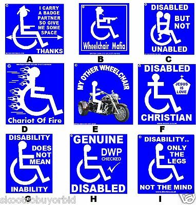 Great Disability Stickers.two Per Order.non Fade.peel & Stick