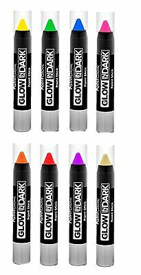 face body paint glow in dark stick festival club rave neon make up