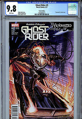 Ghost Rider #5 (2017) Marvel CGC 9.8 White Pages Venomized Variant