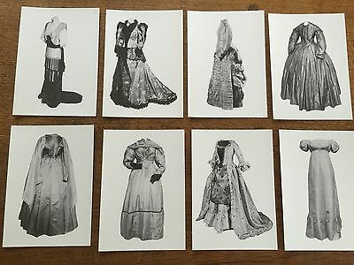Collection 8 postcards Antique Clothing Fashion Costume by Birmingham Museums