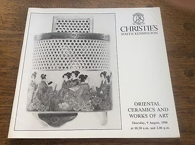 Christies Auction Catalogue Oriental Ceramics and Works of Art Japanese Chinese