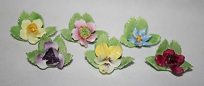 Royal Adderley - Floral - Set of 6 Place Card Holders - vgc