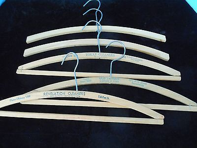 Vintage Wooded Clothes Hangers Lot Of 5.