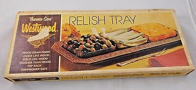 "West Bend Thermo-Serv Westwood Relish Tray 820-179 16"" Long"