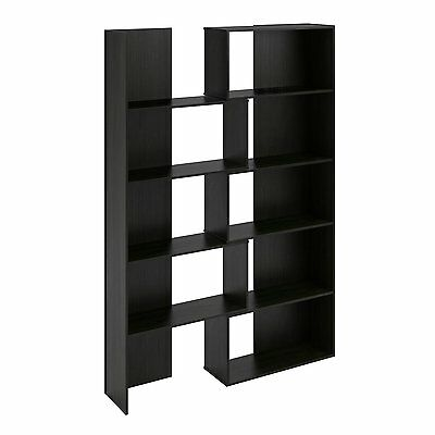 Wood Bookcases For Office Bookshelves Expanding Black Storage Shelves Display