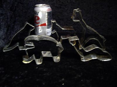 5 - Metal Animal Cookie Cutters Horse Kangaroo Elephant Giraffe Camel
