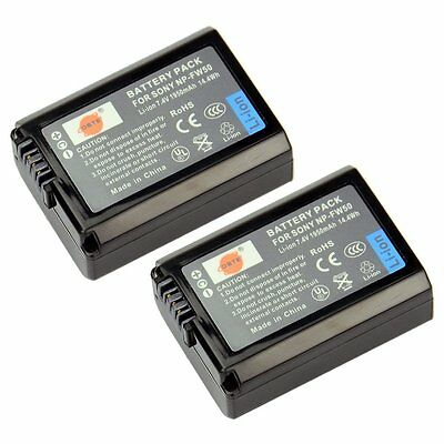 High Capacity DSTE 2x NP-FW50 1950mAh Rechargeable Li-ion Battery For Sony