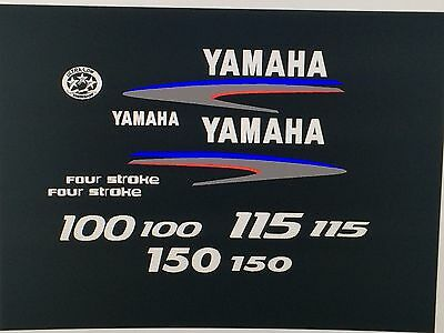 Yamaha 4-Stroke 100/115/150hp Outboard Decal Kit   Marine vinyl
