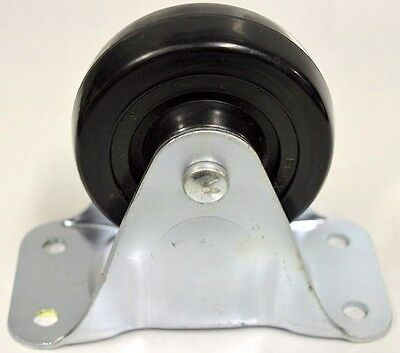 """Albion -Faultless 4"""" Dia x 1 5/16"""" W, Rigid Plate Mount Caster - 5"""" overall ht"""