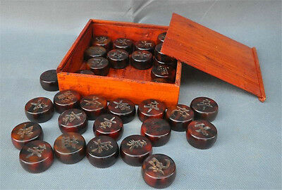 Collect Rare China Collect Old 0x Horn Carved Mind games Xiangqi Chinese chess