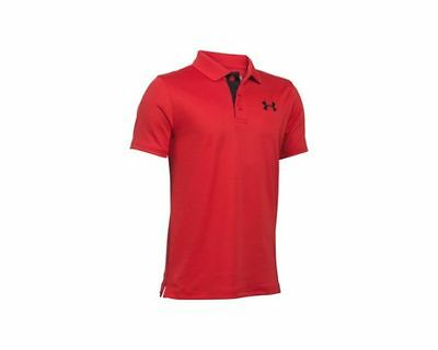 Under Armour Boy's Matchplay Polo Shirt- Red