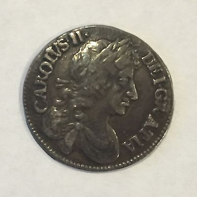 1679 Maundy Fourpence, Superb, Charles II, Great Britain, UK