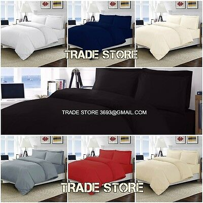 Luxury 100% Egyptian Cotton Fitted Sheets Flat Sheets 200Thread Count All Sizes