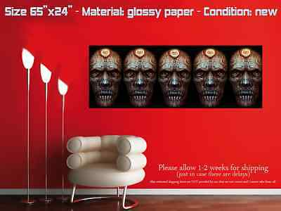 "HUGE 65""x24"" TOOL glossy wall art poster schism maynard undertow 5 faces"