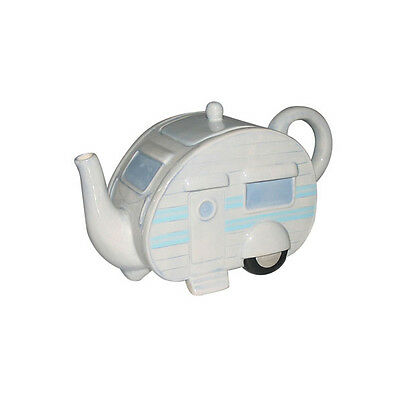 CERAMIC CARAVAN TEAPOT in GIFT BOX (PPJS37)