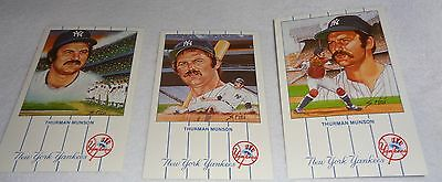 THURMAN MUNSON Limited Issue 1990 New York Yankees 1-12 Postcard Set