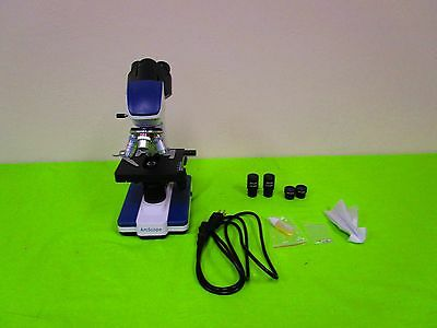 AmScope 40X-2500X LED Digital Compound Microscope with 3D Stage