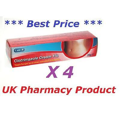 CLOTRIMAZOLE CREAM ANTIFUNGAL 4 x 20g-canesten- thrush, ringworm, athletes foot