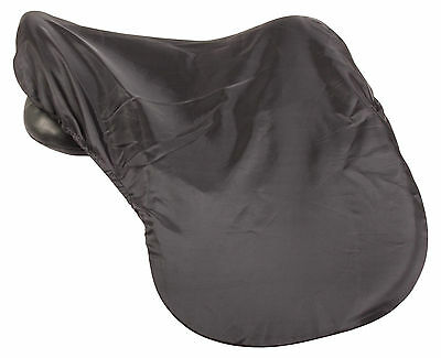 All Purpose Black Lycra Protective One Size English Saddle Cover Horse Tack