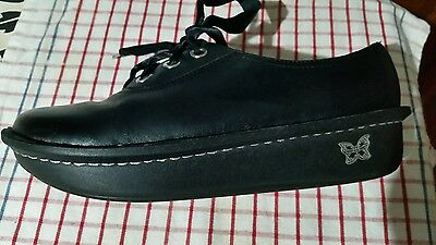"L@@k Free Post ""agleria"" Black Leather Shoes Size 8 (39) Exc Cond"