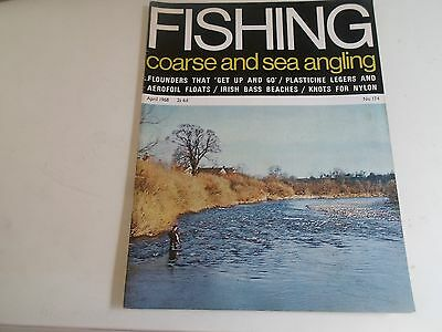 Vintage Magazine APRIL 1968 COARSE AND SEA ANGLING + Illustrated + Advertising