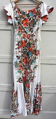 Exceptional Vintage 1940s Dress Hawaiian Casuals for Mcinerney Long Dress /Gown