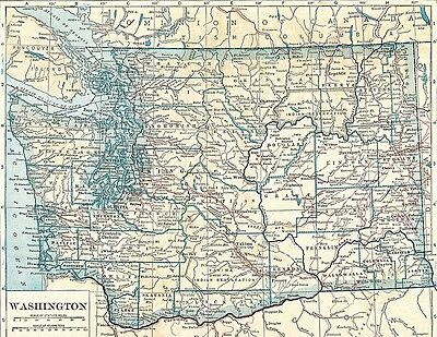 Vintage Map WASHINGTON,1922 year