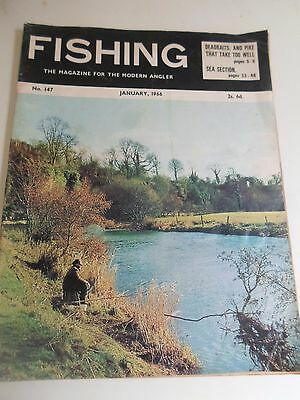 Vintage JANUARY 1966  FISHING The Magazine For The Modern Angler + Advertising