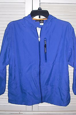 PATAGONIA JACKET Hooded Windbreaker Sun Protect Fabric Kids Size L 12 Blue