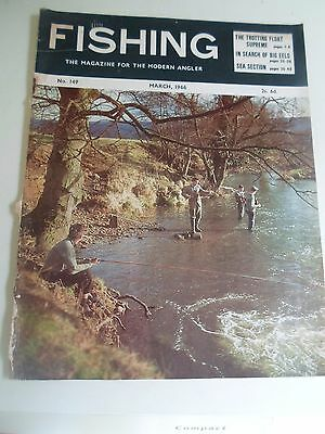 Vintage MARCH 1966  FISHING The Magazine For The Modern Angler + Advertising