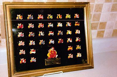 1985 McDonalds Worldwide 30th Anniversary Limited Edition Framed Pin Set