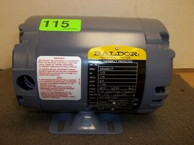 New - Baldor Electric Motor 34G40X17 - 1/3HP, 1 PH, 115V, 1725RPM