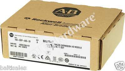 New Sealed Allen Bradley 193-EXP-AIO-31 /A 2017 Analog Expansion I/O Module Qty